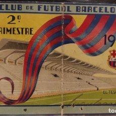 Coleccionismo deportivo: CARNET DE SOCIO DEL FC BARCELONA DE 1944 (2 TRIMESTRE). Lote 175431633