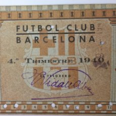 Coleccionismo deportivo: CARNET FÚTBOL CLUB BARCELONA 1940. Lote 175958073