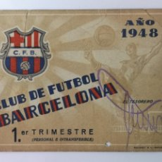 Coleccionismo deportivo: CARNET CLUB FÚTBOL BARCELONA 1948. Lote 175970750