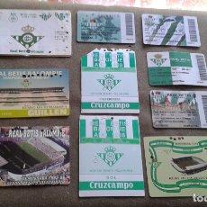 Coleccionismo deportivo: LOTE CON 10 CARNET DE FUTBOL DEL REAL BETIS BALOMPIE - NO SUELTOS. Lote 177638582