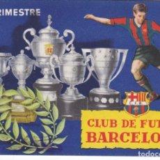Coleccionismo deportivo: CARNET DEL FUTBOL CLUB BARCELONA DEL AÑO 1953 - 3º TRIMESTRE (FOOTBALL) BARÇA. Lote 178654075