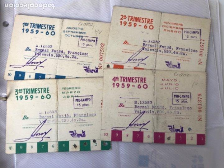 Coleccionismo deportivo: lote de carnet del real club deportivo español 1959-1960.Completo. - Foto 2 - 34040765