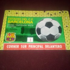 Colecionismo desportivo: CARNET ABONO ABONAMENT FC BARCELONA BARÇA 1971/72. Lote 181087523