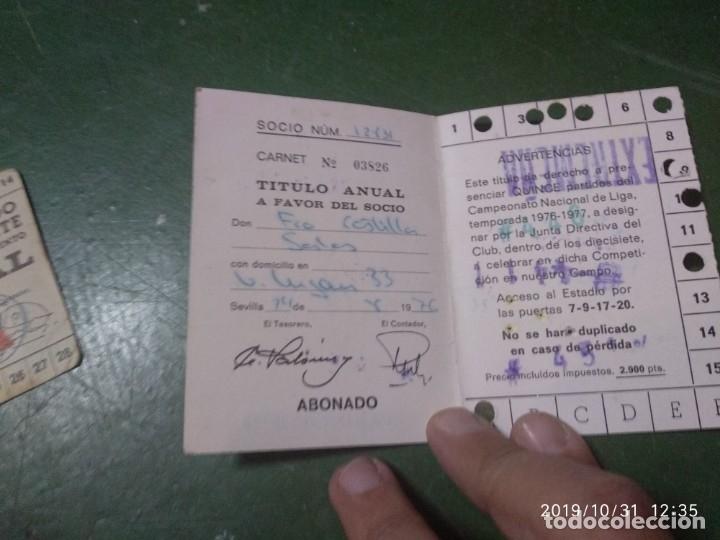Coleccionismo deportivo: ANTIGUO CARNET DEL REAL BETIS BALOMPIE, TEMPORADA 1976-77, ABONADO - Foto 2 - 181979456