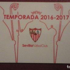 Colecionismo desportivo: ANTIGUA TARJETA ABONADO.SEVILLA F.C TEMPORADA 2016-2017 ADULTO.. Lote 182424533