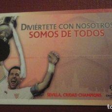 Colecionismo desportivo: ANTIGUA TARJETA SOCIO.SEVILLA F.C ADULTO.TEMPORADA 2010-2011. Lote 182424762
