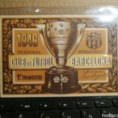 Coleccionismo deportivo: CARNET SOCIO CLUB DE FUTBOL BARCELONA AÑO 1946. Lote 182827472