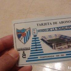Coleccionismo deportivo: CARNET DE SOCIO FUTBOL CLUB MALAGA AÑOS 80-90. Lote 182905933