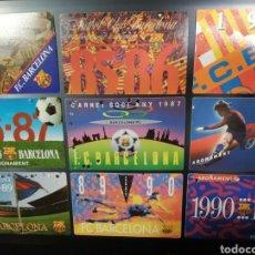Coleccionismo deportivo: F C BARCELONA COLECCION DE CARNETS AUTENTICOS DE SOCIO AÑOS 1980S Y 1990S. Lote 183412208