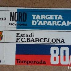 Coleccionismo deportivo: TARJETA DE APARCAMIENTO SOCIO - ESTADIO FC. BARCELONA - TEMPORADA 1980/81 -. Lote 186173651