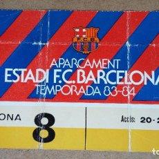 Coleccionismo deportivo: TARJETA DE APARCAMIENTO SOCIO - ESTADIO FC. BARCELONA - TEMPORADA 1983/84 -. Lote 186173813