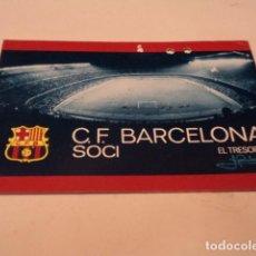 Colecionismo desportivo: CARNET CLUB DE FÚTBOL BARCELONA - AÑO 1973 - 1ER TRIMESTRE. Lote 186343951
