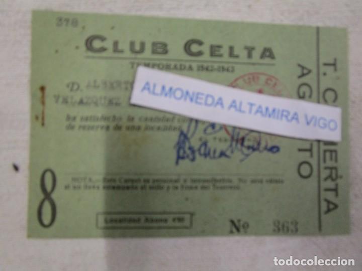 GALICIA FUTBOL - REAL CLUB CELTA DE VIGO - CARNET SOCIO TEMPORADA 1942/43 AGOSTO + INFO (Coleccionismo Deportivo - Documentos de Deportes - Carnet de Socios)