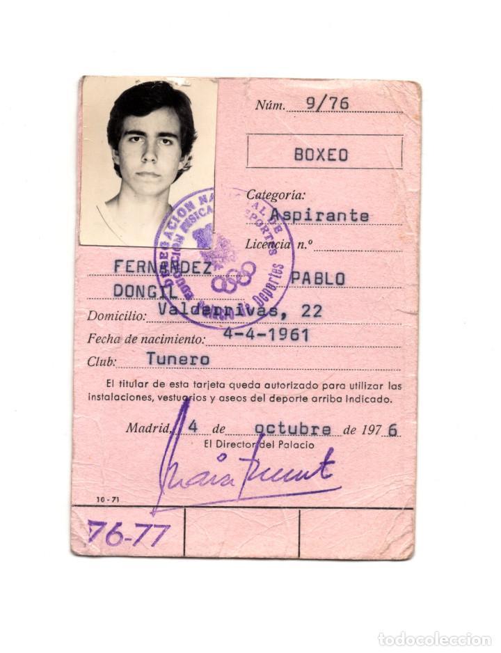 CARNET DE BOXEO. 1976. (Coleccionismo Deportivo - Documentos de Deportes - Carnet de Socios)