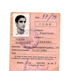 Coleccionismo deportivo: CARNET DE JUDO. 1979.. Lote 190814585