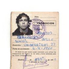 Coleccionismo deportivo: CARNET CONSEJO SUPERIOR DE DEPORTES. 1979.. Lote 190815087