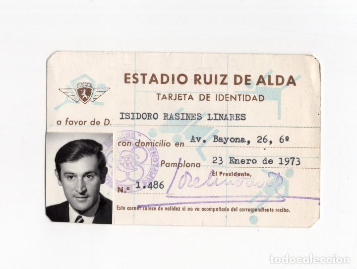 CARNET.- ESTADIO RUIZ DEL ALDA. PAMPLONA 1973. (Coleccionismo Deportivo - Documentos de Deportes - Carnet de Socios)