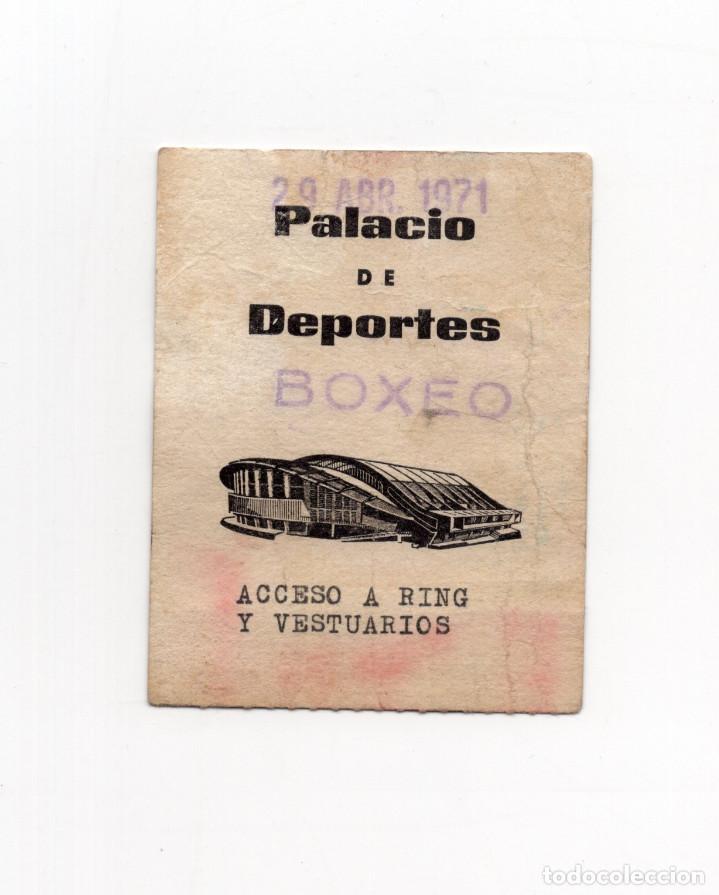 PASE BOXEO. PALACIO DE LOS DEPORTES. ACCESO RING Y VESTUARIOS. (Coleccionismo Deportivo - Documentos de Deportes - Carnet de Socios)