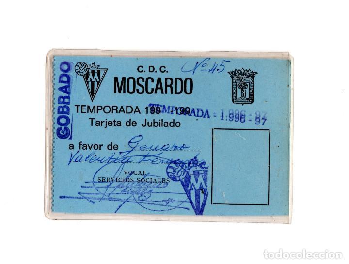 CARNET DE SOCIO CLUB DEPORTIVO MOSCARDÓ 1996 (Coleccionismo Deportivo - Documentos de Deportes - Carnet de Socios)