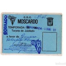 Coleccionismo deportivo: CARNET DE SOCIO CLUB DEPORTIVO MOSCARDÓ 1996. Lote 190873075