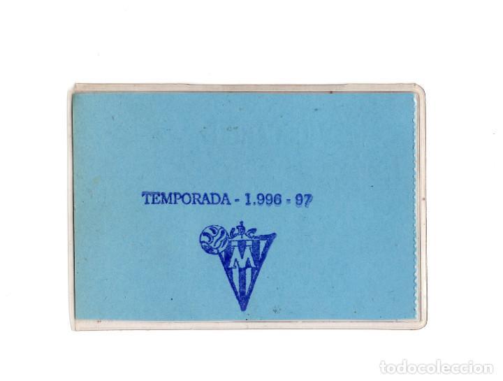 Coleccionismo deportivo: CARNET DE SOCIO CLUB DEPORTIVO MOSCARDÓ 1996 - Foto 2 - 190873075