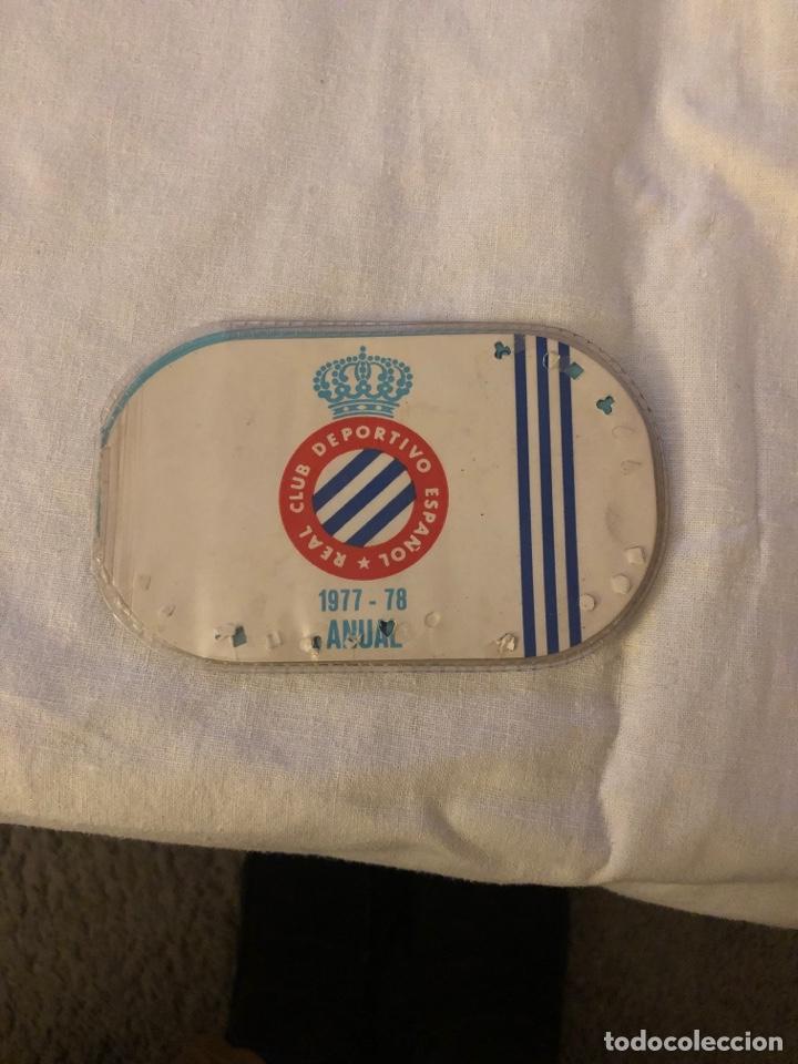 CARNÉ SOCIO RCD ESPAÑOL 1977/1978 (Coleccionismo Deportivo - Documentos de Deportes - Carnet de Socios)