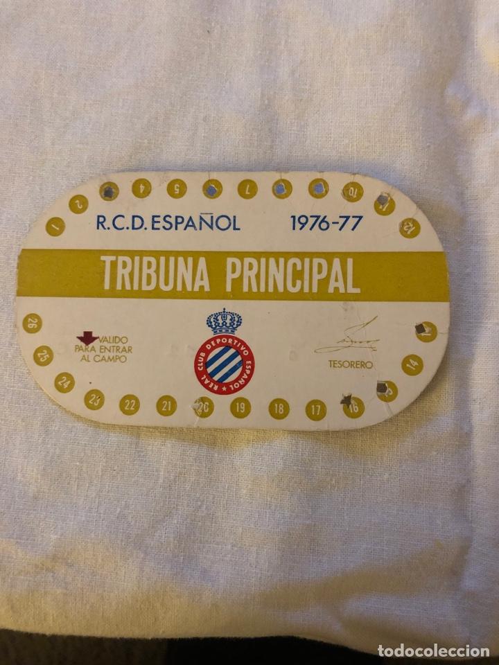 CARNET SOCIO RCD ESPAÑOL 1976-1977 (Coleccionismo Deportivo - Documentos de Deportes - Carnet de Socios)