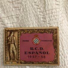 Coleccionismo deportivo: CARNET SOCIO RCD ESPAÑOL 1957/58. Lote 191336796