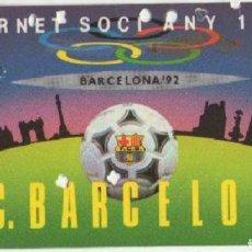 Coleccionismo deportivo: CARNET SOCIO F C BARCELONA 1987. Lote 193665472