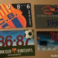 Colecionismo desportivo: LOTE 4 DIFERENTES ABONOS FUTBOL CLUB BARCELONA. Lote 193752743