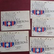 Coleccionismo deportivo: LOTE DE 5. CARNET ABONO ABONAMENT FC BARCELONA BARÇA 1972 ANUAL. Lote 194201745