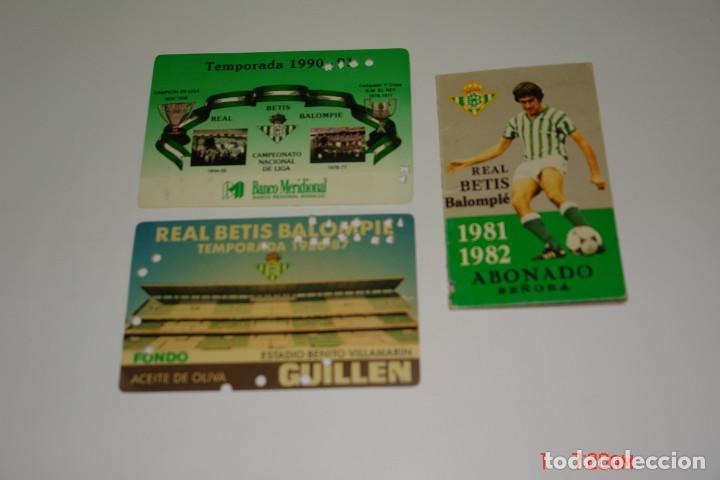 LOTE 3 CARNE DE FUTBOL DEL REAL BETIS TEMPORADAS -81-82 -86-87 -90-91 (Coleccionismo Deportivo - Documentos de Deportes - Carnet de Socios)