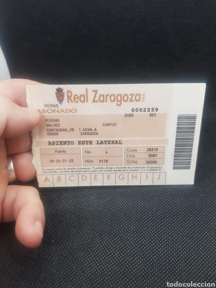 Coleccionismo deportivo: Abono Real Zaragoza 1992/1993 - Foto 2 - 195701227