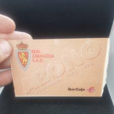 Coleccionismo deportivo: ABONO REAL ZARAGOZA 1992/1993. Lote 195701227