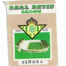Coleccionismo deportivo: CARNET DE REAL BETIS BALOMPIÉ -LIGA 1980/1981. Lote 195995652