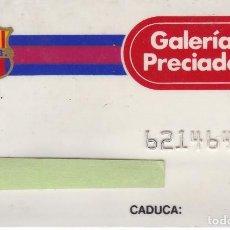 Coleccionismo deportivo: TARJETA DEL FUTBOL CLUB BARCELONA DE GALERIAS PRECIADOS (BARÇA) (FOOTBALL) MUY RARA. Lote 196148110