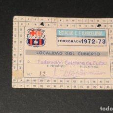 Coleccionismo deportivo: CARNET C.F. BARCELONA TEMPORADA 1972-73 (BARÇA). Lote 197808030