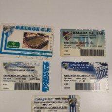 Coleccionismo deportivo: 5 CARNET DEL MALAGA C.F, TEMPORADA 98 - 00 - 01 - 02 - 03. Lote 198583081