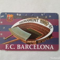 Coleccionismo deportivo: CARNET DE SOCIO DEL FC BARCELONA (TEMPORADA 1980/81). Lote 198749637