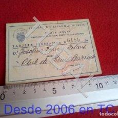 Coleccionismo deportivo: TUBAL CARNET SOCIO CLUB TENIS BARCINO SELLO 1943 B65. Lote 199057570