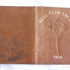 Colecionismo desportivo: REAL CLUB CELTA VIGO PORTA CARNET PIEL GALICIA FUTBOL T31. Lote 200115681