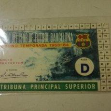 Colecionismo desportivo: CARNET DE FUTBOL FC BARCELONA FUTBOL FOOTBALL GATE. Lote 203383773