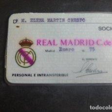 Coleccionismo deportivo: REAL MADRID CLUB DE FUTBOL CARNET DE SOCIO FEMENINO 1975. Lote 204457595
