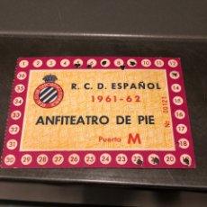 Coleccionismo deportivo: CARNET SOCIO RCD ESPAÑOL 61/62. Lote 204465782