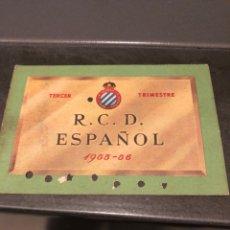 Coleccionismo deportivo: CARNET SOCIO RCD ESPAÑOL 55/56 3ER TRIMESTR. Lote 204467640