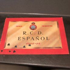 Coleccionismo deportivo: CARNET SOCIO RCD ESPAÑOL 55/56 1ER TRIMESTRE. Lote 204467906