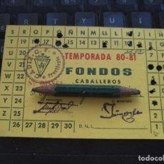 Coleccionismo deportivo: CARNET DE FUTBOL TEMPORADA 1980 1981 80 81 CADIZ CLUB DE FUTBOL FONDOS CABALLEROS. Lote 204607935