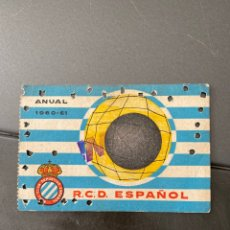 Coleccionismo deportivo: CARNET SOCIO FUTBOL RCD ESPAÑOL ANUAL 1960/61. Lote 205368997