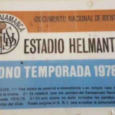 Coleccionismo deportivo: ABONO UNIÓN DEPORTIVA SALAMANCA TEMPORADA 78- 79. Lote 205447030