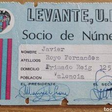 Coleccionismo deportivo: CARNET DE SOCIO LEVANTE U.D. 1975. Lote 205679980